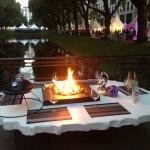 Feuertisch mit Grill