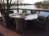 Feuertisch Terrasse Restaurant